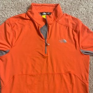 Men's North Face Pullover Sz L Orange
